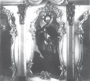 Икона в иконостасе Воскресенского военного собора. Фото 1928 г. из фондов ОГИКМ